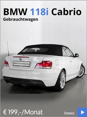 Autohaus Märtin BMW 118i Cabrio Gebrauchtwagenangebot