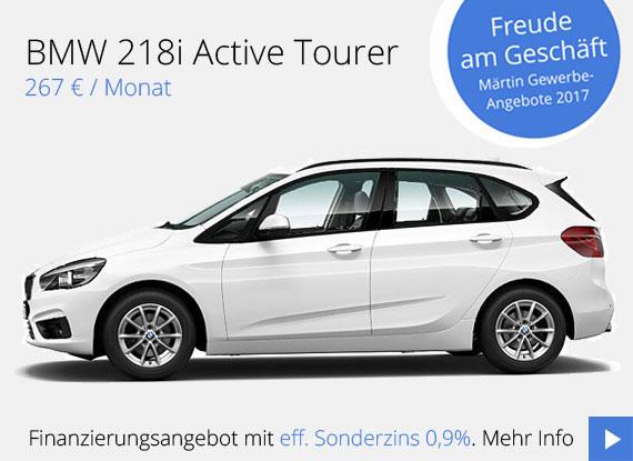BMW 218i Active Tourer Gewerbekundenangebot vom Autohaus Märtin