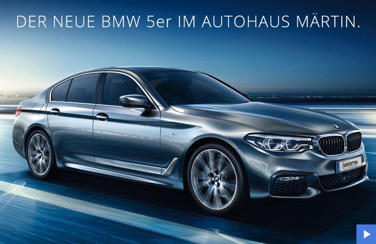 Neuer BMW 5er im Autohaus Märtin