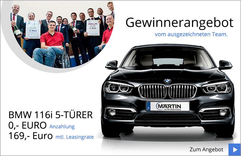 BMW 1er Gewinnerangebot von Märtin