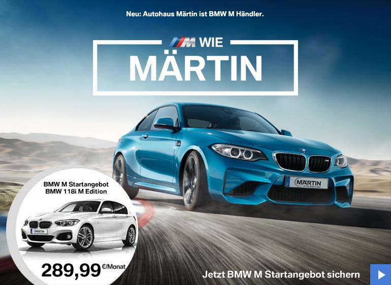 BMW 118i M Edition Angebot im Autohaus Märtin