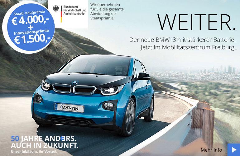 BMW i3 Aagebot mit Staatsprämie bei Märtin