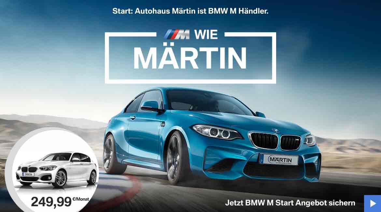 BMW M Start-Angebot bei Märtin in Freiburg