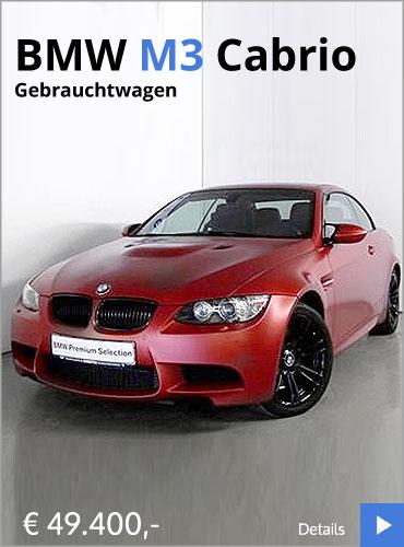 BMW M3 Cabrio Angebot