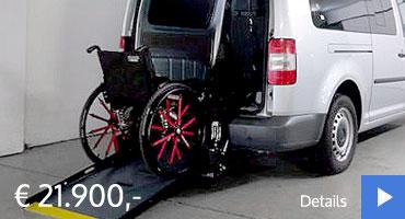 Mobireha VW Caddy Gebrauchtwagenangebot Rollstuhlgerecht