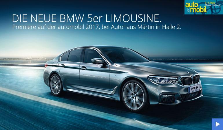 Der neue BMW 5er bei Märtin auf der automobil 2017