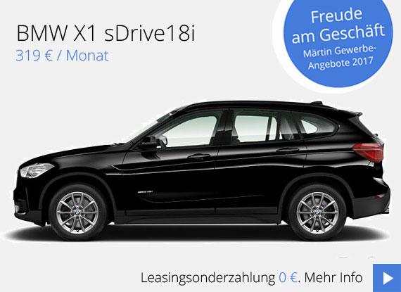 BMW X1sDrive18iGewerbekundenangebot vom Autohaus Märtin