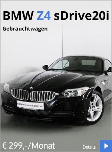 BMW Z4 sDrive20i Gebrauchtwaggenangebot vom Autohaus Märtin