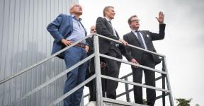 Baustellen-Besuch des Deutschland BMW Chefs