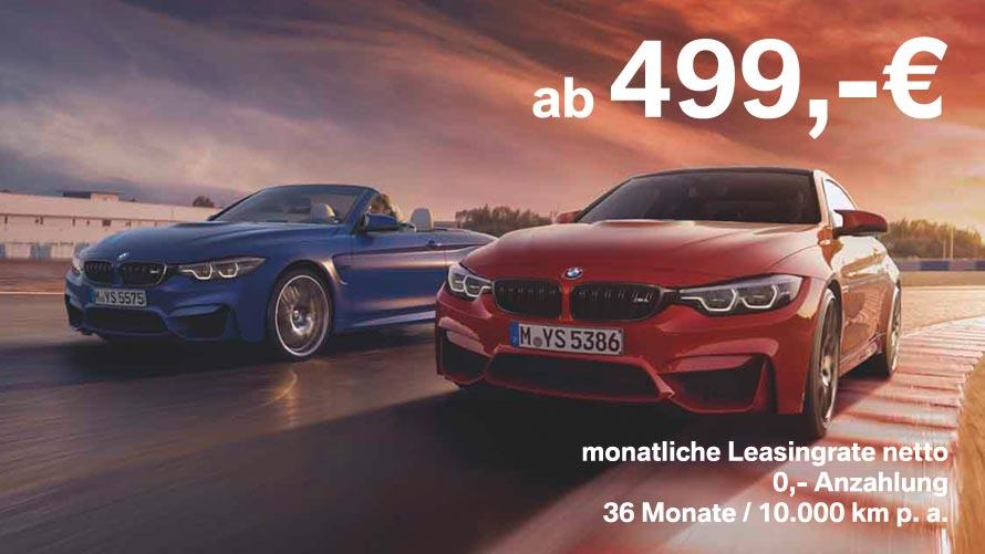 BMW M4 Coupé und Cabrio Grosskundenangebote im Autohaus Märtin