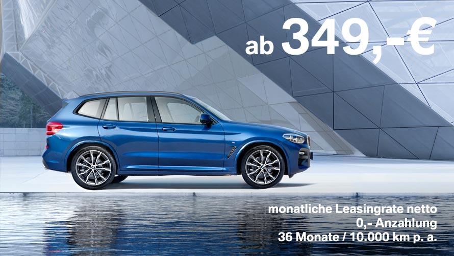 BMW X3 Grosskundenangebot im Autohaus Märtin