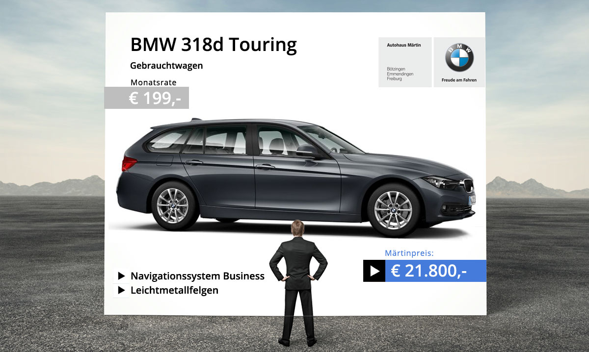 bmw 318d touring gebrauchtwagen angebot. Black Bedroom Furniture Sets. Home Design Ideas