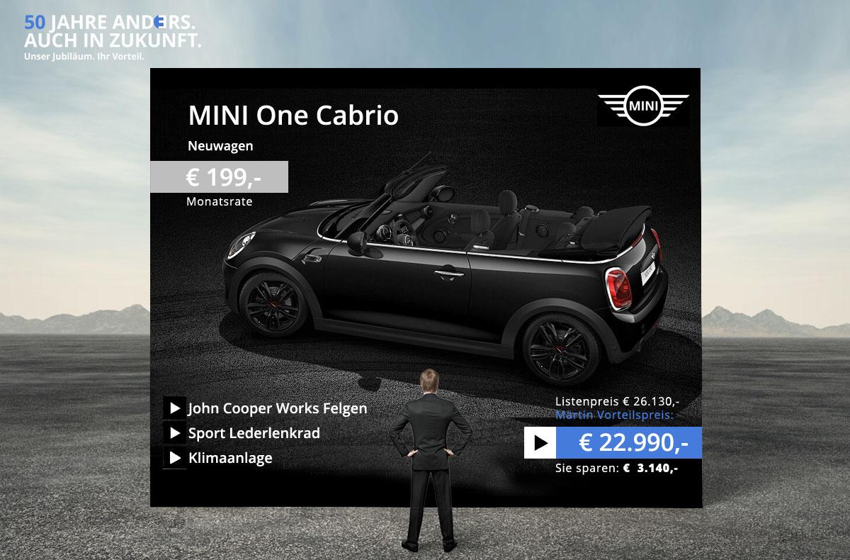 mini one cabrio neuwagen angebot. Black Bedroom Furniture Sets. Home Design Ideas