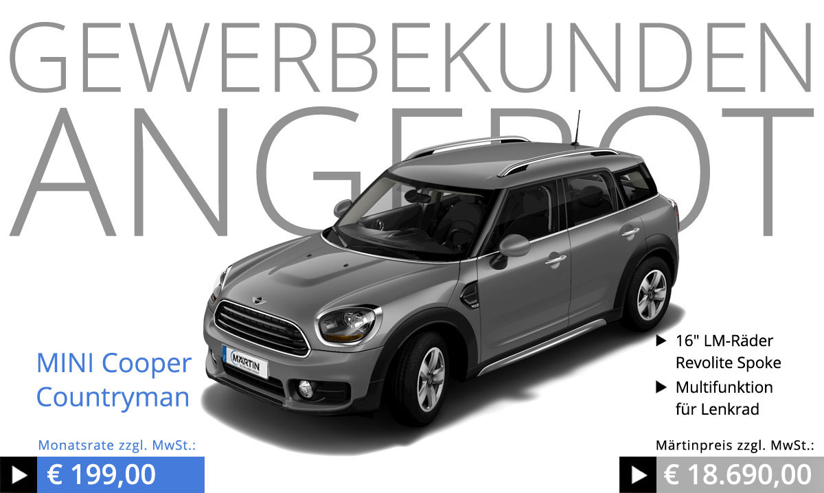 mini cooper countryman gewerbekundenangebot. Black Bedroom Furniture Sets. Home Design Ideas