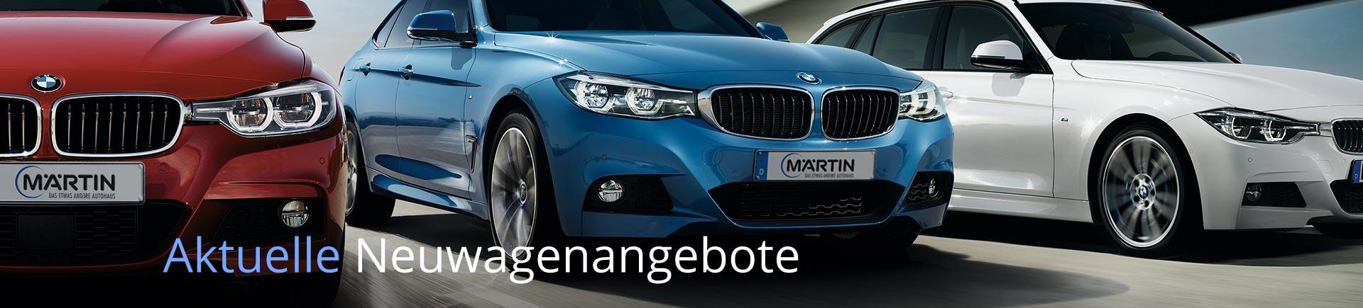 Aktuellle Neuwagenangebote auf bmw-maertin.de