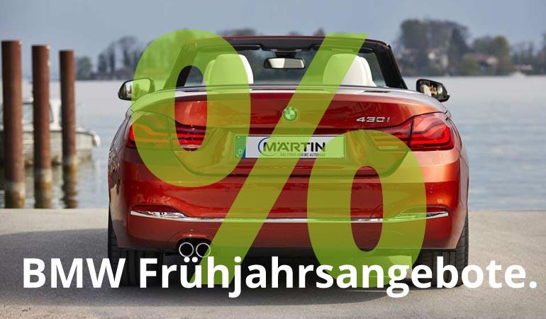 BMW Frühjahrsangebote im Autohaus Märtin