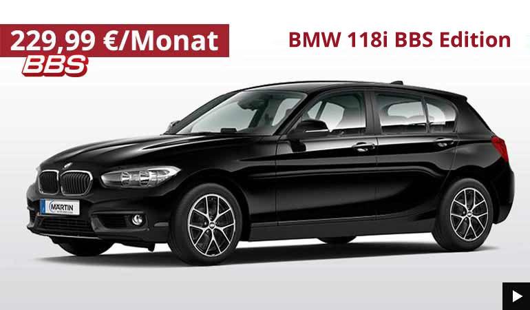 BMW 118i BBS Sondermodell im Autohaus Märtin