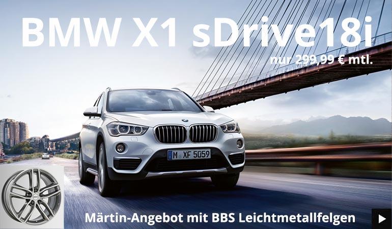 BMW X1 sDrive18i Angebot im Autohaus Märtin