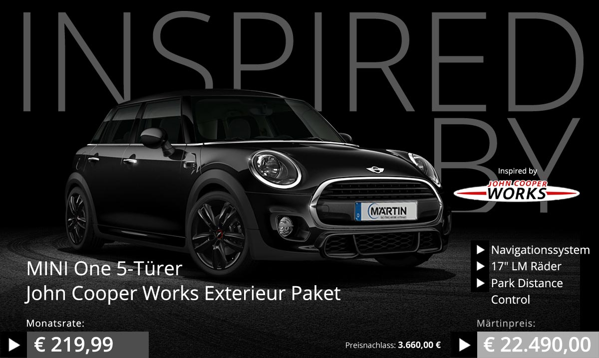 mini one john cooper works exterieur paket im mini zentrum. Black Bedroom Furniture Sets. Home Design Ideas