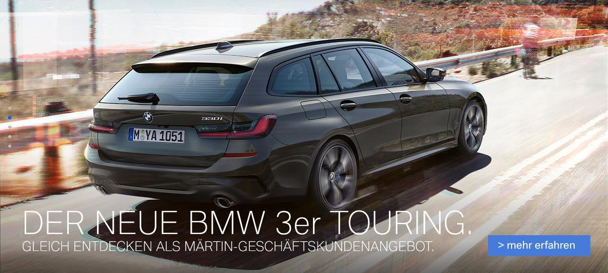 Der neue BMW 330i Touring als Gewerbeangebot im Autohaus Märtin