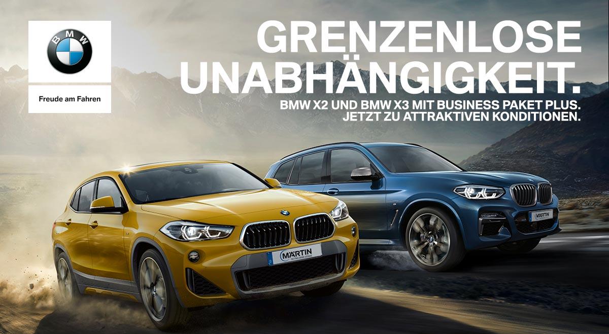 BMW X2 und BMW X3 Neuwagenangebote von Autohaus Märtin