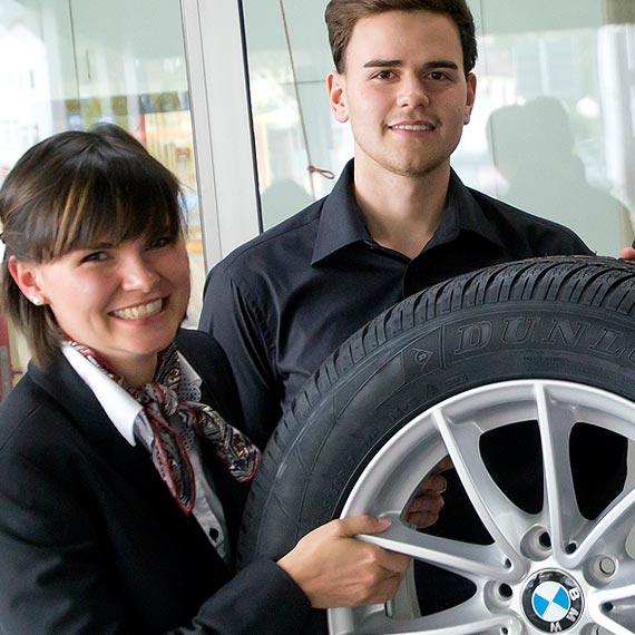 Räder Service im Autohaus Märtin