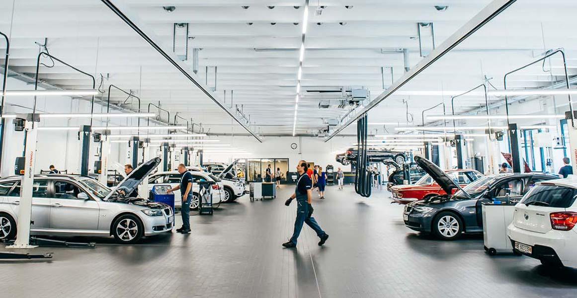 Werkstatt im Autohaus Märtin