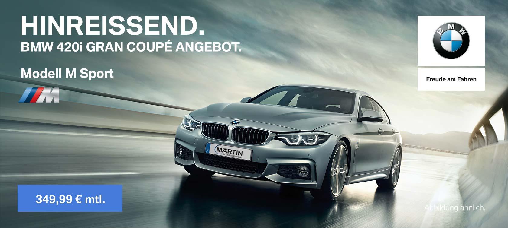 BMW 420i Gran Coupé Angebot im Autohaus Märtin