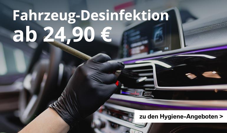 Angebote zur Fahrzeug-Hygiene im Autohaus Märtin