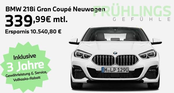 BMW 218i Gran Coupé Leasingangebot bei Autohaus Märtin