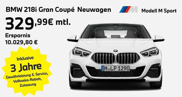 BMW 218i Gran Coupé Leasingangebot