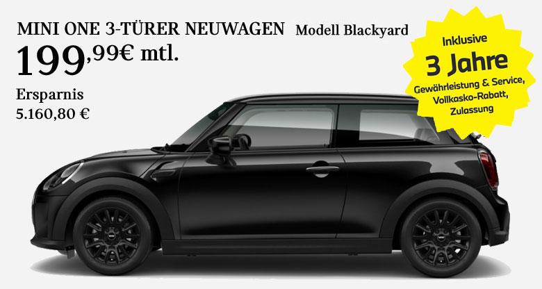 MINI One 3-Türer Blackyard Angebot