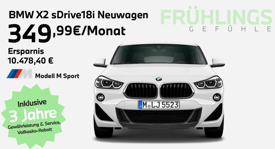 BMW X2 sDrive18i Leasingangebot