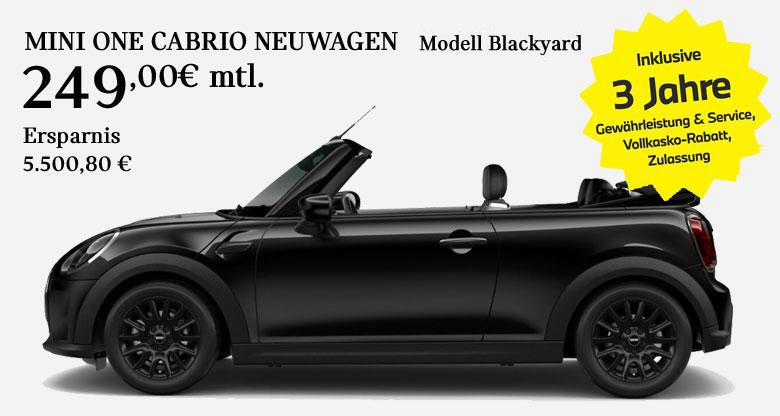 MINI One Cabrio Blackyard Angebot