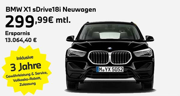 BMW X1 sDrive18i Leasingangebot