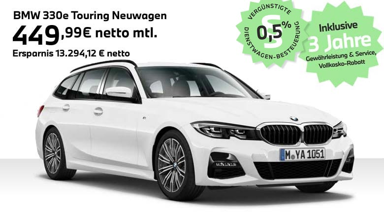 BMW Hybrid BMW 330e Touring Angebot für Gewerbekunden von Autohaus Märtin