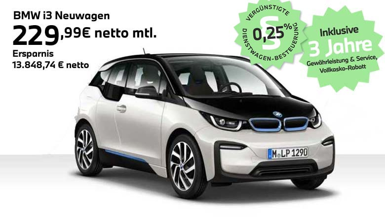 BMW i3 Angebot für Gewerbekunden von Autohaus Märtin