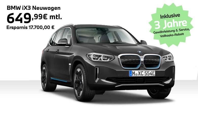 BMW Elektroauto Angebot iX3 von Autohaus Märtin