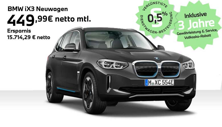 BMW iX3 Angebot für Gewerbekunden von Autohaus Märtin