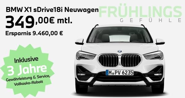 BMW X1 sDrive18i Leasingangebot bei Autohaus Märtin