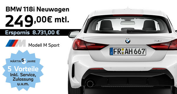 BMW 118i M-Paket Leasing bei Märtin