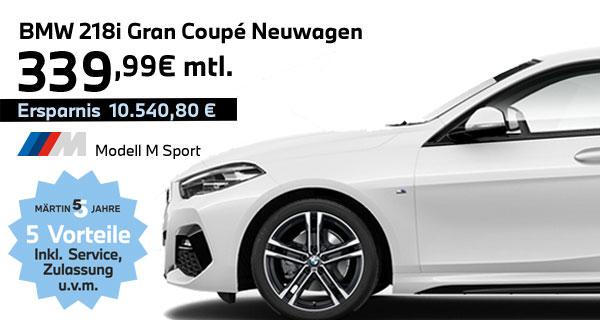 BMW 218i Gran Coupé Leasing bei Märtin