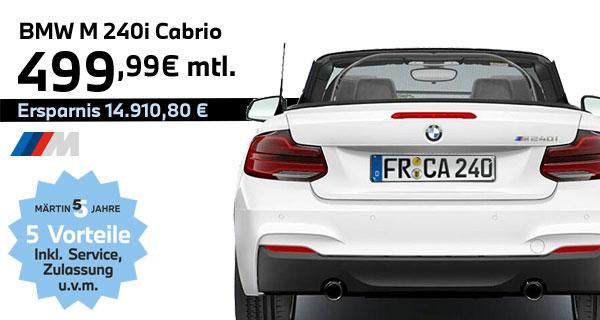 BMW M 240i Cabrio Leasing bei Märtin