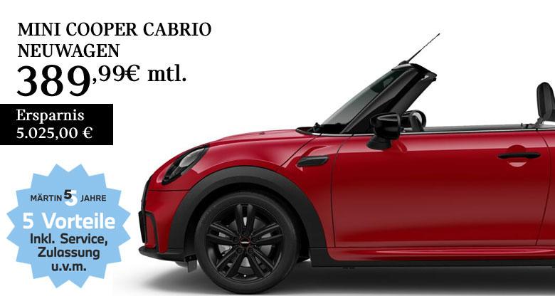 MINI Cooper Cabrio mit JCW-Paket Leasing bei Märtin