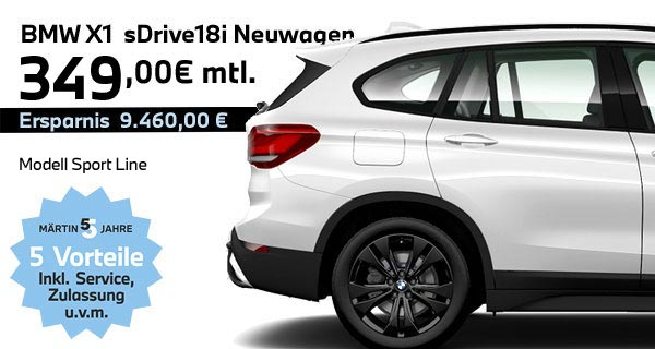 BMW X1 sDrive18i Leasing bei Märtin