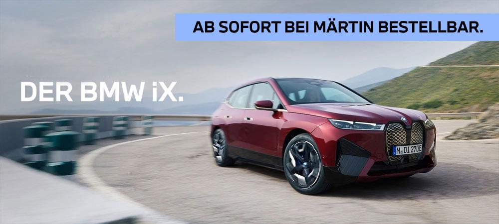 Der neue BMW iX ab sofort bei Märtin bestellbar