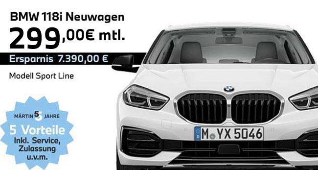 BMW 118i Leasing bei Märtin