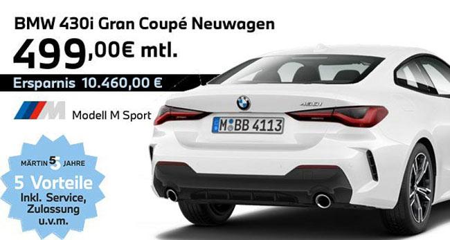 BMW 430i Gran Coupé Leasing-Angebot bei Märtin