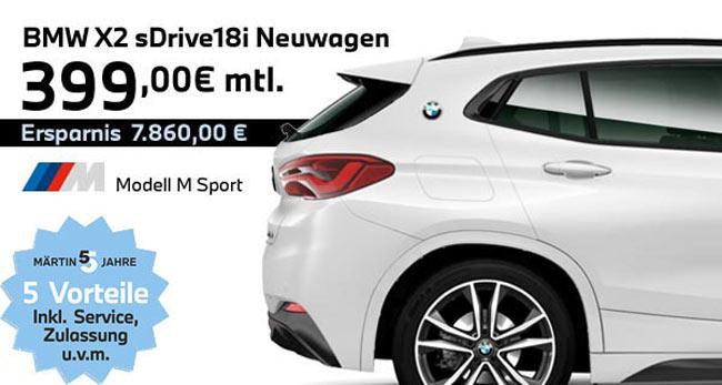 BMW X2 sDrive18i Leasing-Angebot bei Märtin